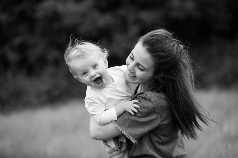 Mum and her baby on family photo shoot