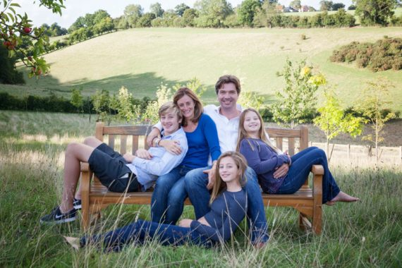 Outdoor family portrait in Henley