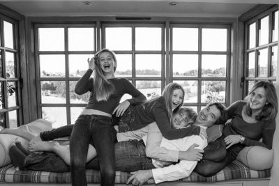 Family having fun in lifestyle photo shoot in Henley
