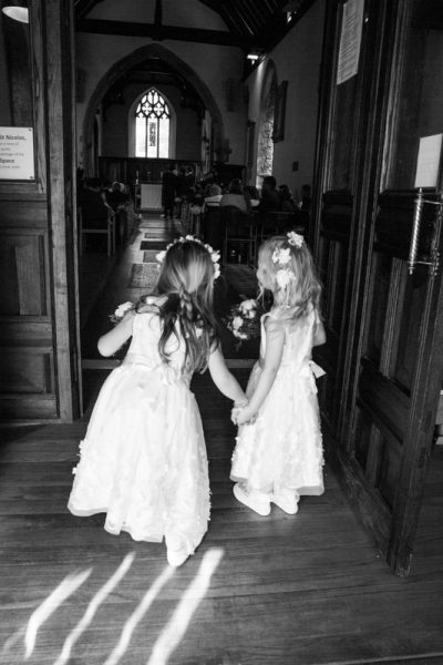 Flower girls at St Nicolas Church Abingdon