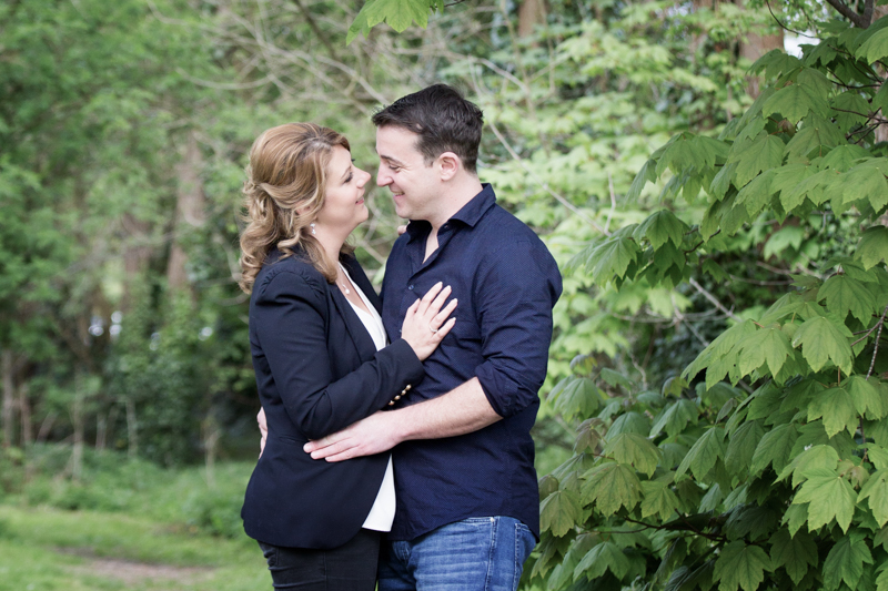 couple by the river at hurley pre wedding shoot
