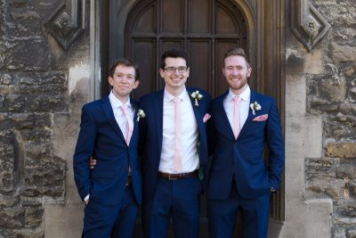 The lads at Crown and Thistle Abingdon wedding