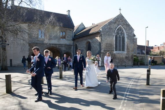 Just married in centre of Abingdon