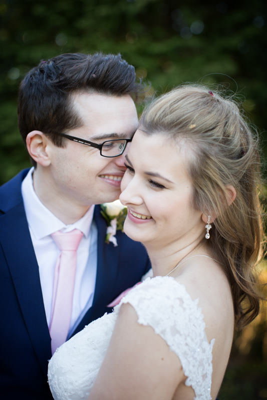 Romantic moment at Crown and Thistle Wedding in Abingdon