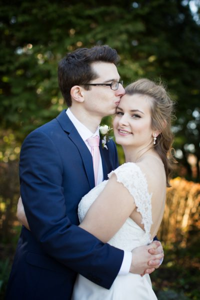 Bride and Groom at Crown and Thistle Abingdon wedding