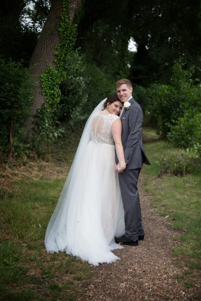 Bride and Groom portrait at Shiplake College Berkshire
