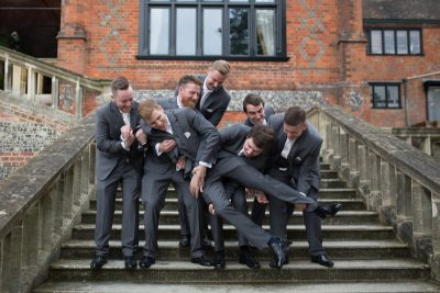 Fun shot of Groom and his Groomsmen
