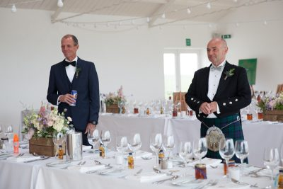 First look for Dad and Step Dad at Crear Wedding
