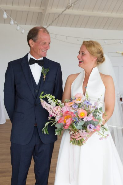 Bride with her father at Crear Wedding