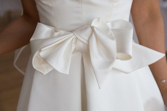 Wedding dress details at Crear Wedding