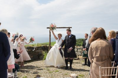 Outdoor humanist ceremony at Crear in Scotland