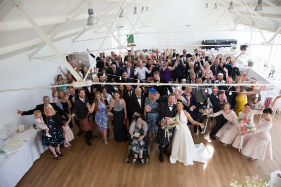 Wedding group at Crear in Scotland