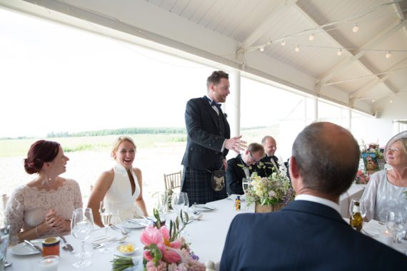 Wedding speeches at Crear Wedding