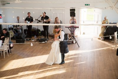 Bride and Groom doing their first dance at Crear Wedding