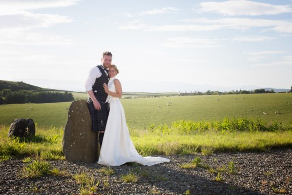 Countryside view of Crear Wedding venue