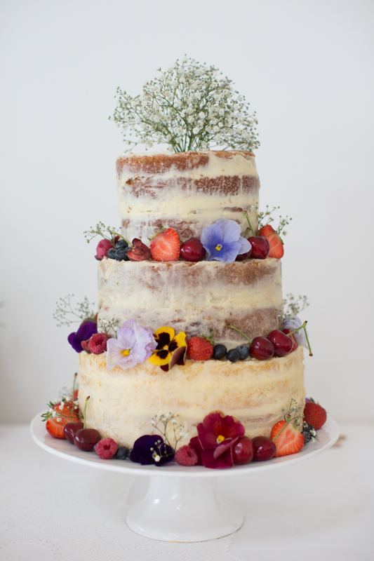 Naked Wedding Cake at Crear