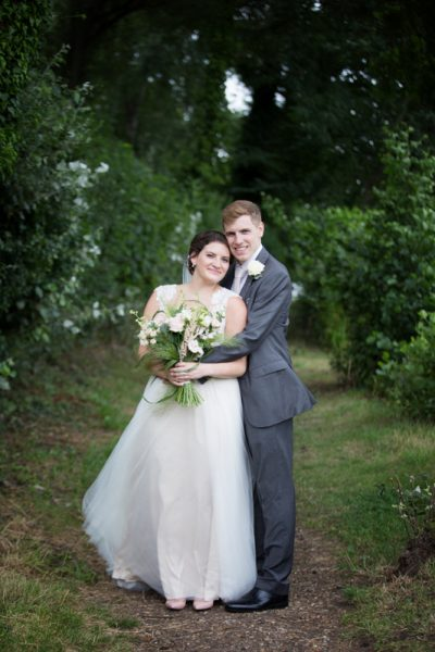 Couple at their Shiplake College Wedding