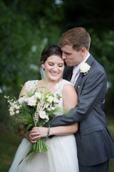 Couple at their Shiplake College Weddig