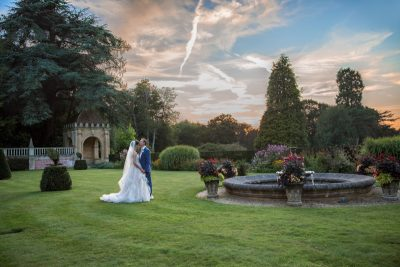 Sunset at Tylney Hall Wedding