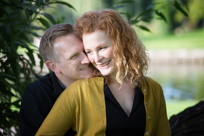 Couple on their pre wedding shoot in Henley