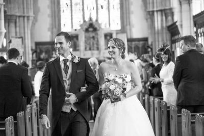 Just married at All Saints Church in Marlow