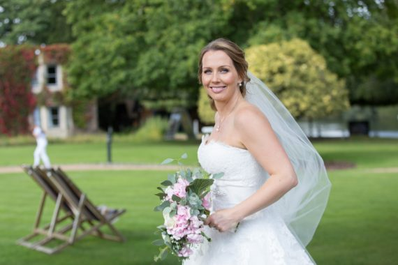 Bride at Oakley Court Wedding