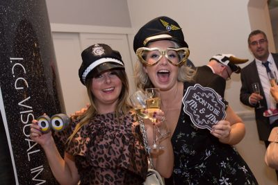 Girls in the photo booth at Oakley Court Wedding