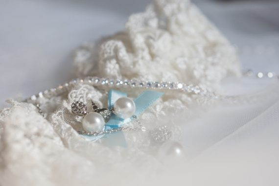 garter and jewellery wedding details