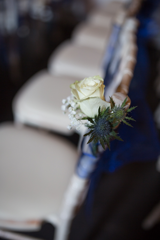 Chair detail at Olde Bell Hurley Wedding