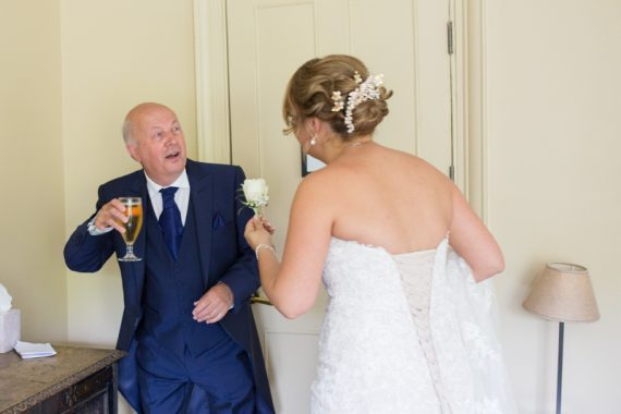 Bride and her Father at Olde Bell Hurley