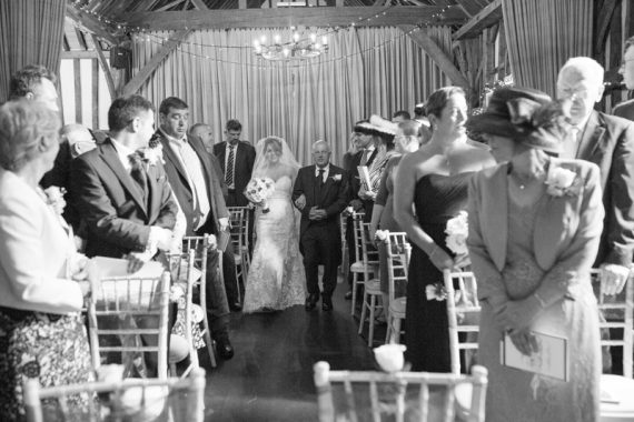 Wedding ceremony at olde bell hotel in Hurley