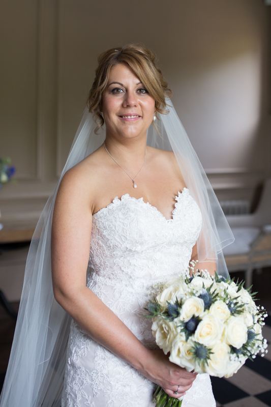 Beautiful bride at her wedding at Olde Bell Hurley