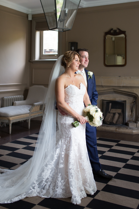 Bride and Groom Portrait at Olde Bell Hurley