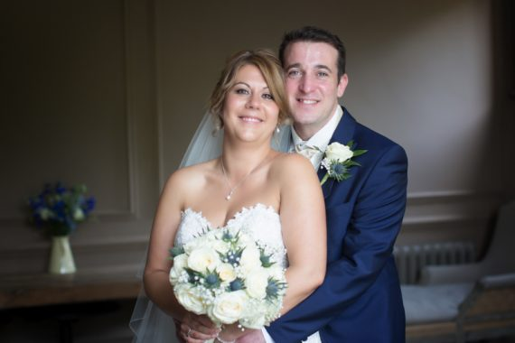 Bride and Groom portrait at Olde Bell Hotel in Hurley