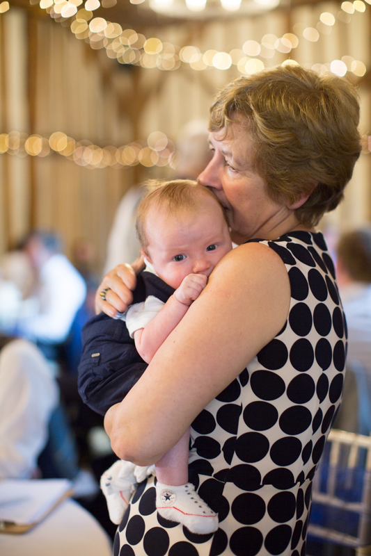 Baby with his Grandmother at Olde Bell Hotel Hurley Wedding