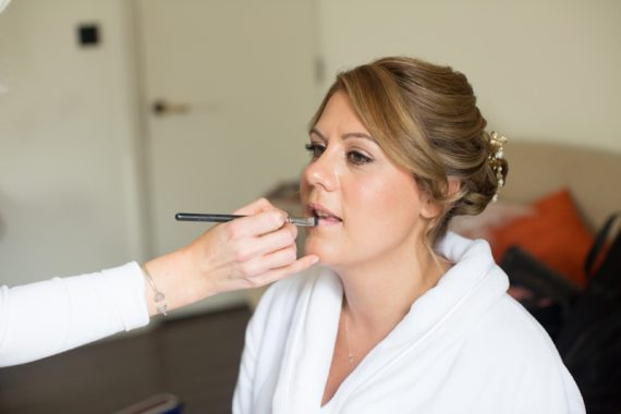 Bridal make up shot