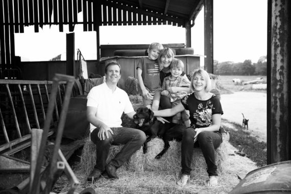 Family in farmyard photo shoot Henley