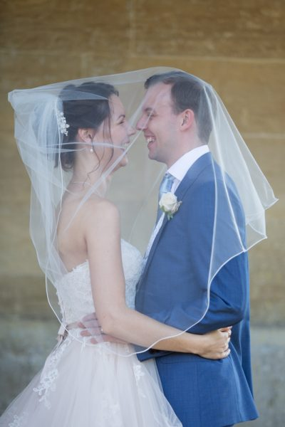 Couple at their Tylney Hall Wedding