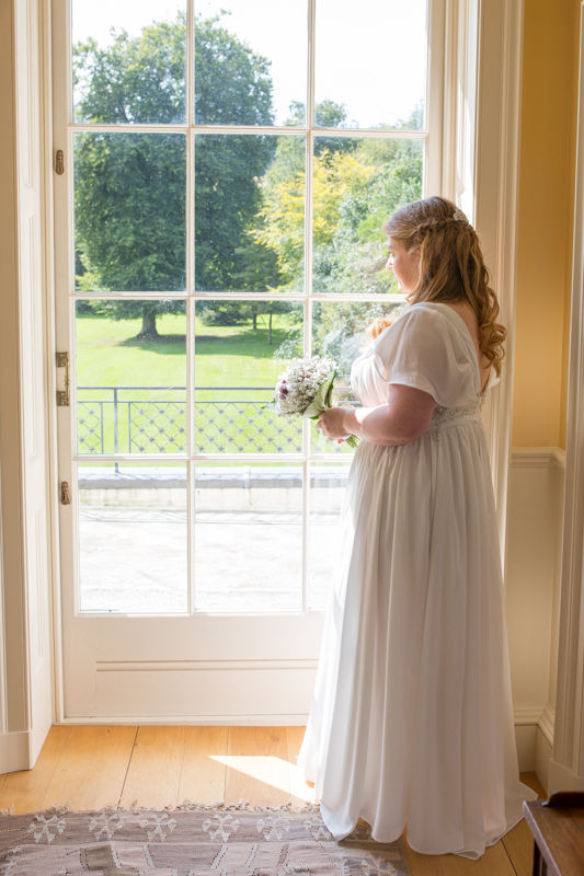 Beautiful bride and beautiful venue of Rockley Manor
