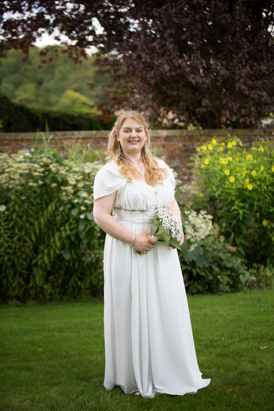 Bride in the gardens at Rockley Manor