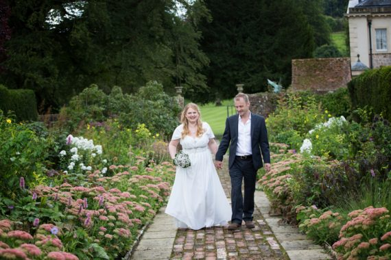 Natural shot of Bride and Groom at Rockley Manor