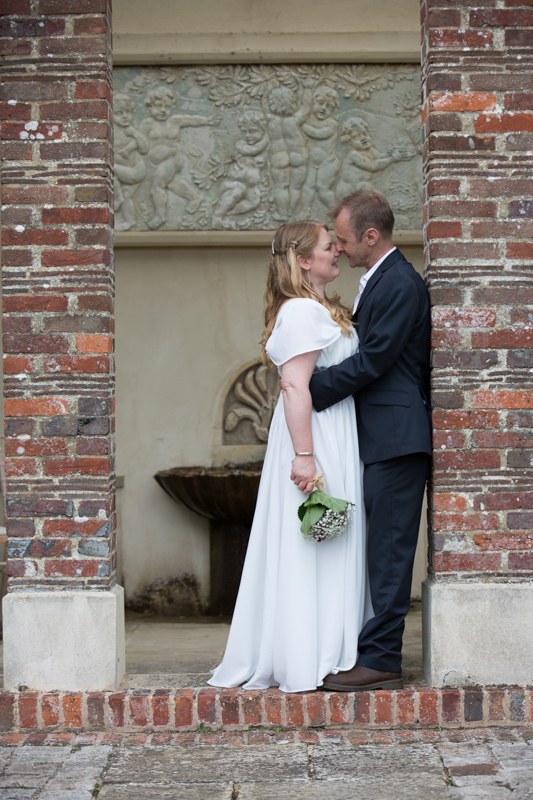 Couple gazing into each other's eyes at their Rockley Manor wedding venue