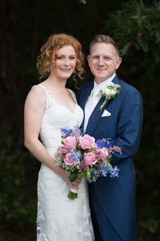 Bride and Groom at their wedding at The Cricketers in Berkshire