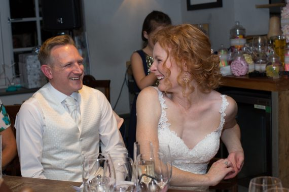 Wedding speeches at The Cricketers in Warfield