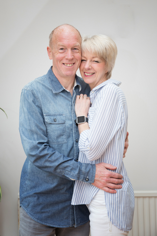 Grandparents having a cuddle in Henley Family photo shoot