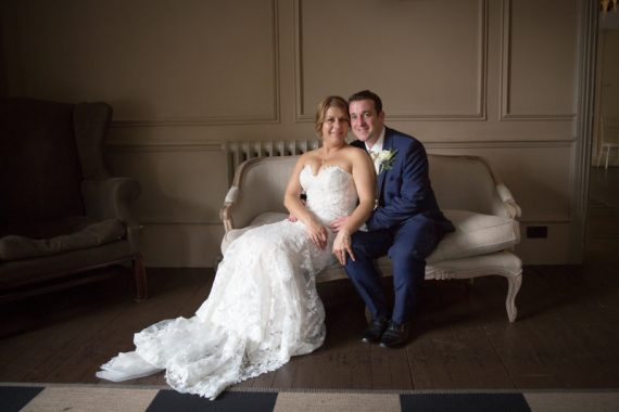 Bride and Groom portrait at Olde Bell Hotel Hurley