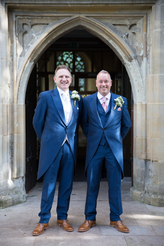 Groom and his best man before their wedding