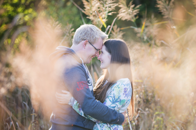 Couple at their engagement shoot in Henley