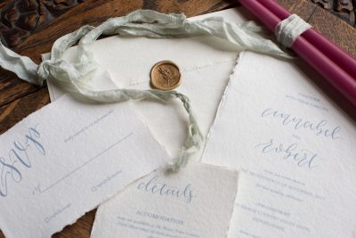 Beautiful wedding stationery at Old World Glamour Styled Shoot at Manor House Hotel in Oxfordshire