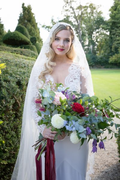 Vintage bride at Weston Manor House
